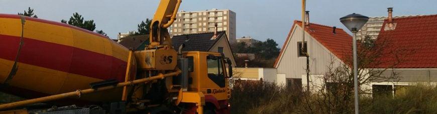 Pompmixer beton storten