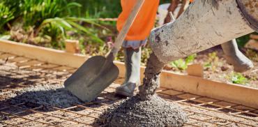 Starten betonmortel
